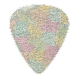 France In Departments 2 Acetal Guitar Pick
