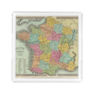 France In Departments 2 Acrylic Tray