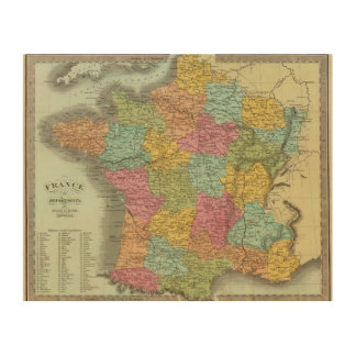 France In Departments 2 Wood Wall Decor