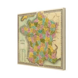France In Departments Canvas Print