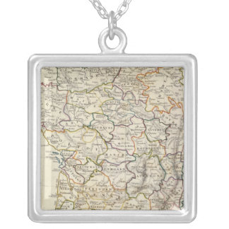 France in provinces silver plated necklace