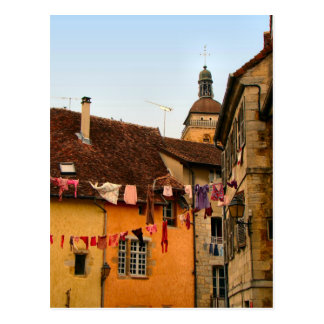 France, Jura, Arbois; Houses in town Postcard