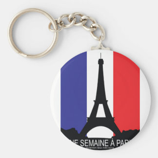France Basic Round Button Key Ring