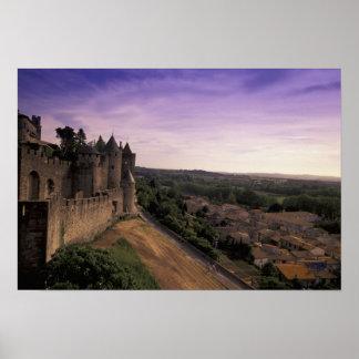 FRANCE, Languedoc Carcassonne Poster