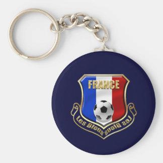 France les Bleus Logo Shield Emblem Basic Round Button Key Ring