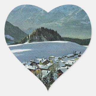 France, Leysin Dents du Midi Heart Sticker
