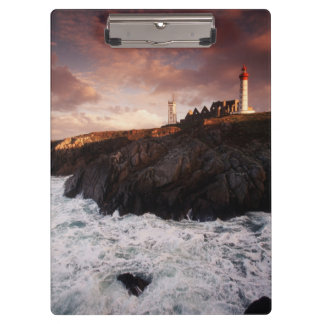 France, lighthouse at dawn clipboard