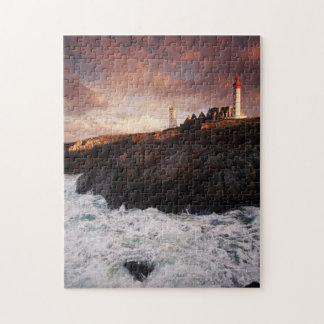 France, lighthouse at dawn jigsaw puzzle