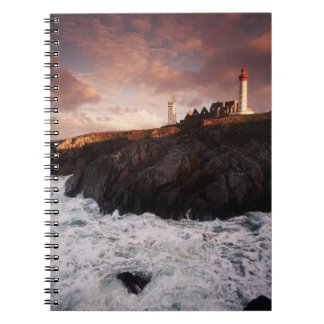 France, lighthouse at dawn notebooks