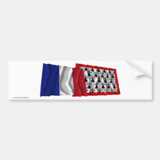 France & Limousin waving flags Car Bumper Sticker