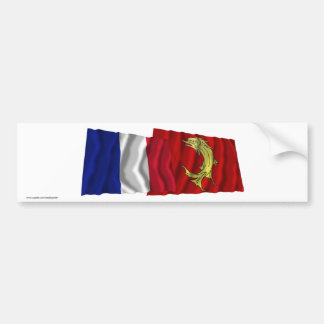 France & Loire waving flags Bumper Sticker