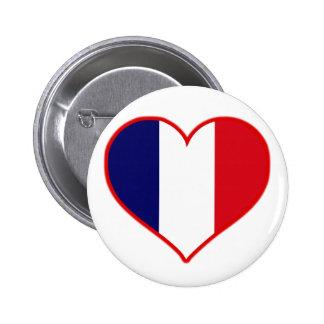 France Love 6 Cm Round Badge
