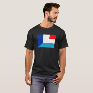 france luxembourg flag country half symbol T-Shirt