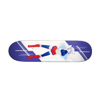 France Manga girl dressed in Flag - French - 20 Cm Skateboard Deck