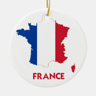 FRANCE MAP CHRISTMAS ORNAMENT