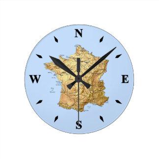 France Map Clock