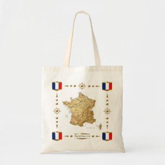 France Map + Flags Bag
