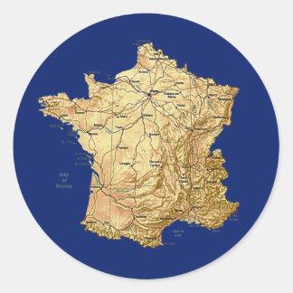 France Map Sticker