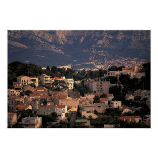 France, Marseille, Provence. Southern suburbs Poster