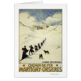 France - Monks Skiing Card