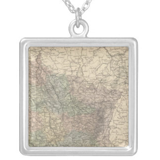 France NE Silver Plated Necklace
