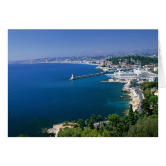 France, Nice, aerial view of the port Card