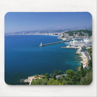 France, Nice, aerial view of the port Mouse Mat