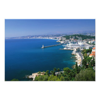 France, Nice, aerial view of the port Photo Print