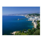 France, Nice, aerial view of the port Postcard