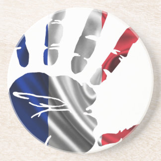 FRANCE NICE HAND FLAG PRODUCTS COASTER