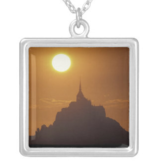 France, Normandy. Mont Saint Michele Silver Plated Necklace
