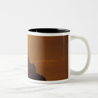France, Normandy. Mont Saint Michele Two-Tone Coffee Mug