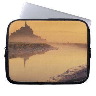 FRANCE, Normandy Mont St. Michel. Morning Light Laptop Sleeve