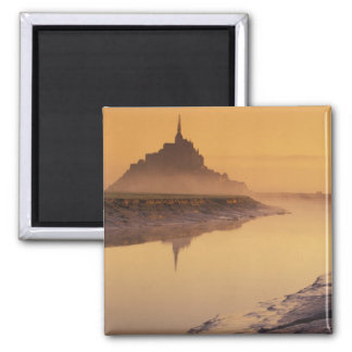FRANCE, Normandy Mont St. Michel. Morning Light Magnet