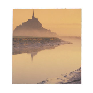 FRANCE, Normandy Mont St. Michel. Morning Light Notepad