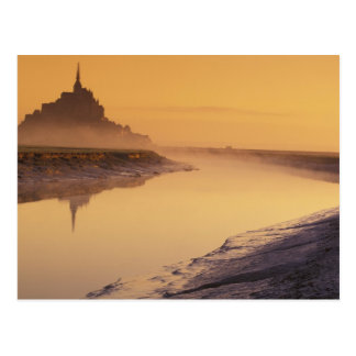 FRANCE, Normandy Mont St. Michel. Morning Light Postcard