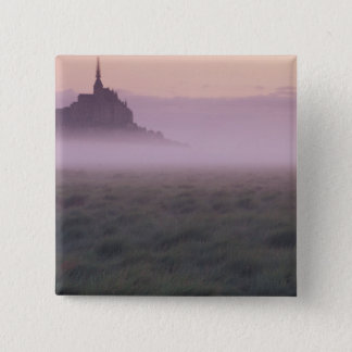 FRANCE, Normandy Mont St. Michel. Morning Mist 15 Cm Square Badge