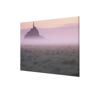 FRANCE, Normandy Mont St. Michel. Morning Mist Canvas Print