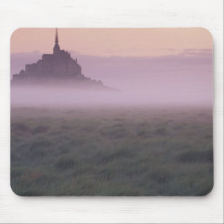 FRANCE, Normandy Mont St. Michel. Morning Mist Mouse Pad