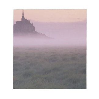 FRANCE, Normandy Mont St. Michel. Morning Mist Notepad