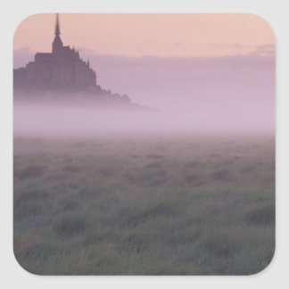 FRANCE, Normandy Mont St. Michel. Morning Mist Square Sticker