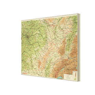 France northeastern section, environs of Paris Canvas Print