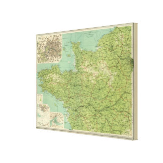 France northwestern section, environs of Paris Canvas Print