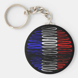 France on Black Keychain