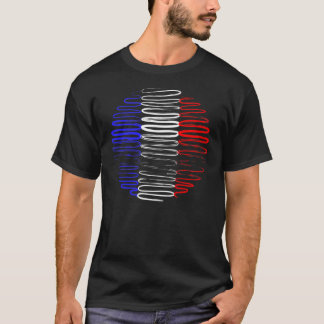 France on Black Tee Shirt