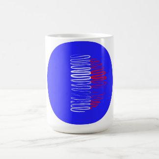France on Blue Circle Mug