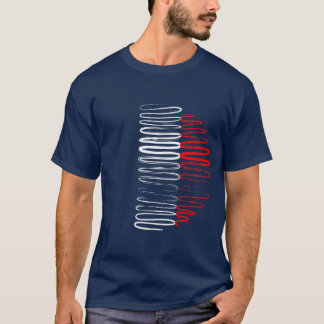 France on Blue Tee Shirt