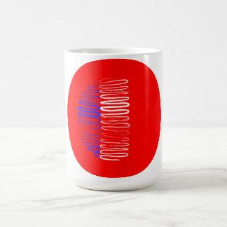 France on Red Circle Mug