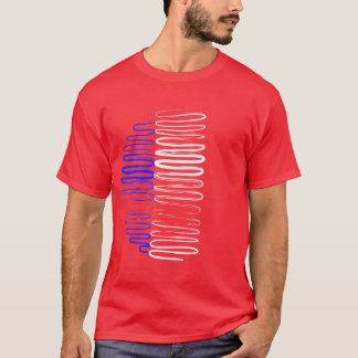 France on Red Tee Shirt