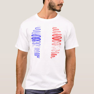 France on White Tee Shirt